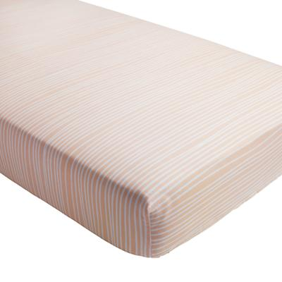 Mod Botanical Crib Fitted Sheet (Pink Stripe)