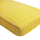 Mod Botanical Yellow Hatch Crib Fitted Sheet