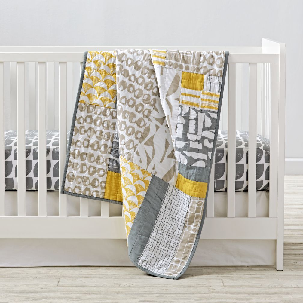 Modern Mix Crib Bedding and Quilt