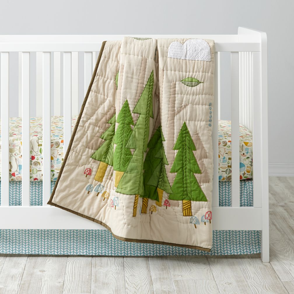 Nature Trail Woodland Crib Bedding The Land Of Nod