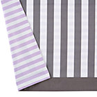 Purple and Grey Stripe Unicorn Crib Skirt