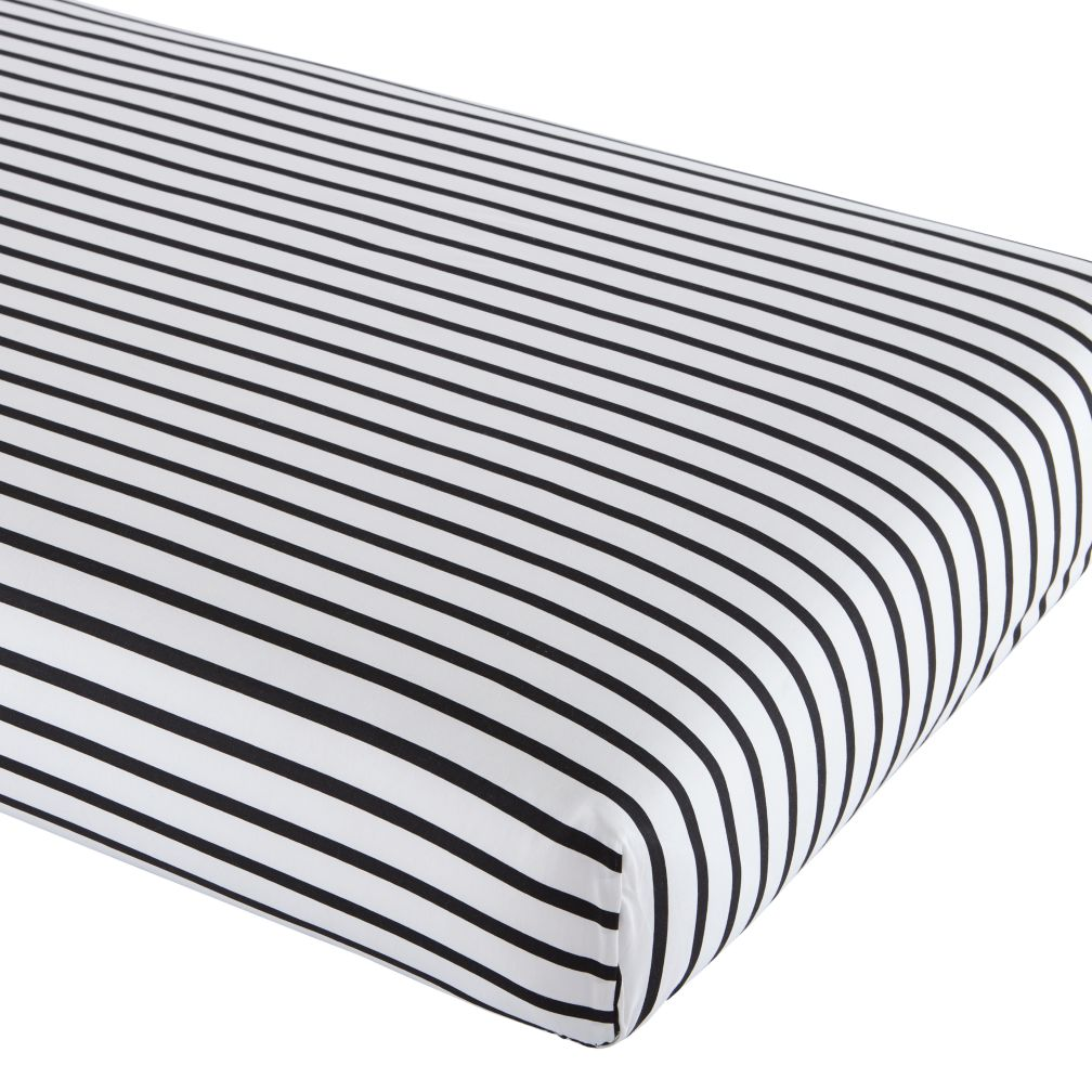 Organic Noir Stripe Crib Sheet