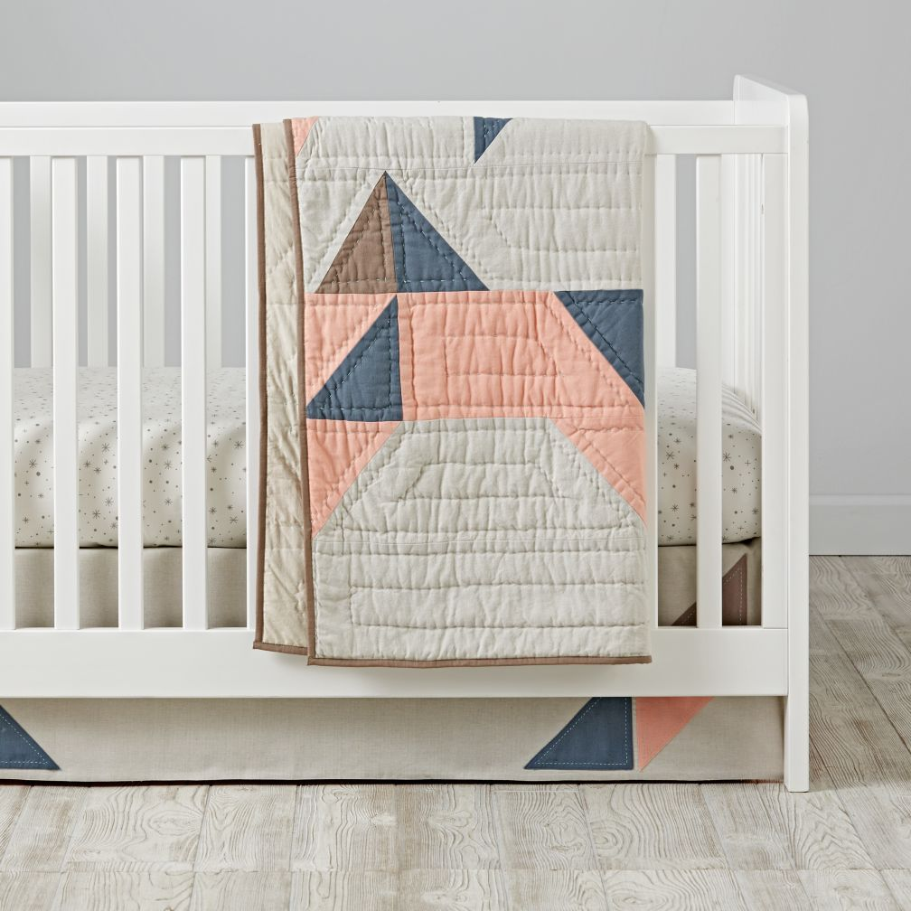 Pattern Casual Crib Bedding (Pink)