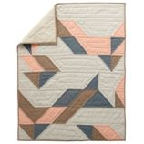 Pattern Casual Baby Quilt (Pink)