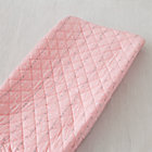 Pink Squiggle Print Changing Pad Cover