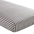 Grey Stripe Fitted Crib Sheet