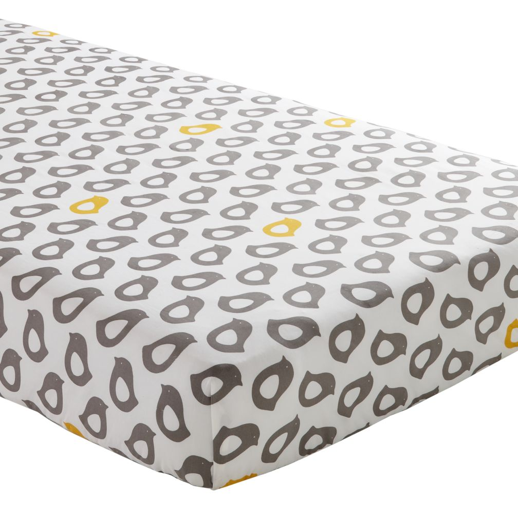 Not A Peep Crib Fitted Sheet Yellow Chick The Land Of Nod