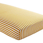 Yellow Stripe Crib Fitted Sheet