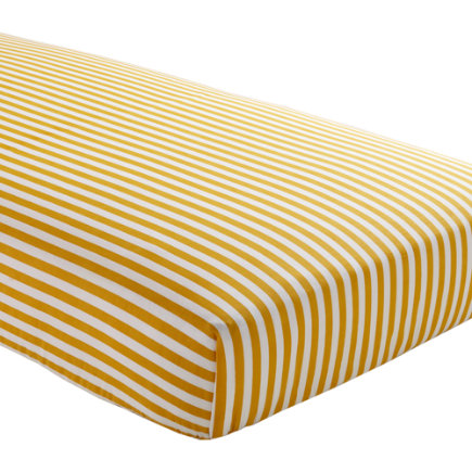 Baby Sheets: Yellow Striped Fitted Crib Sheet - Yellow Stripe Crib Fitted Sheet