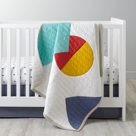 Polygone Baby Quilt - Polygon Baby Quilt