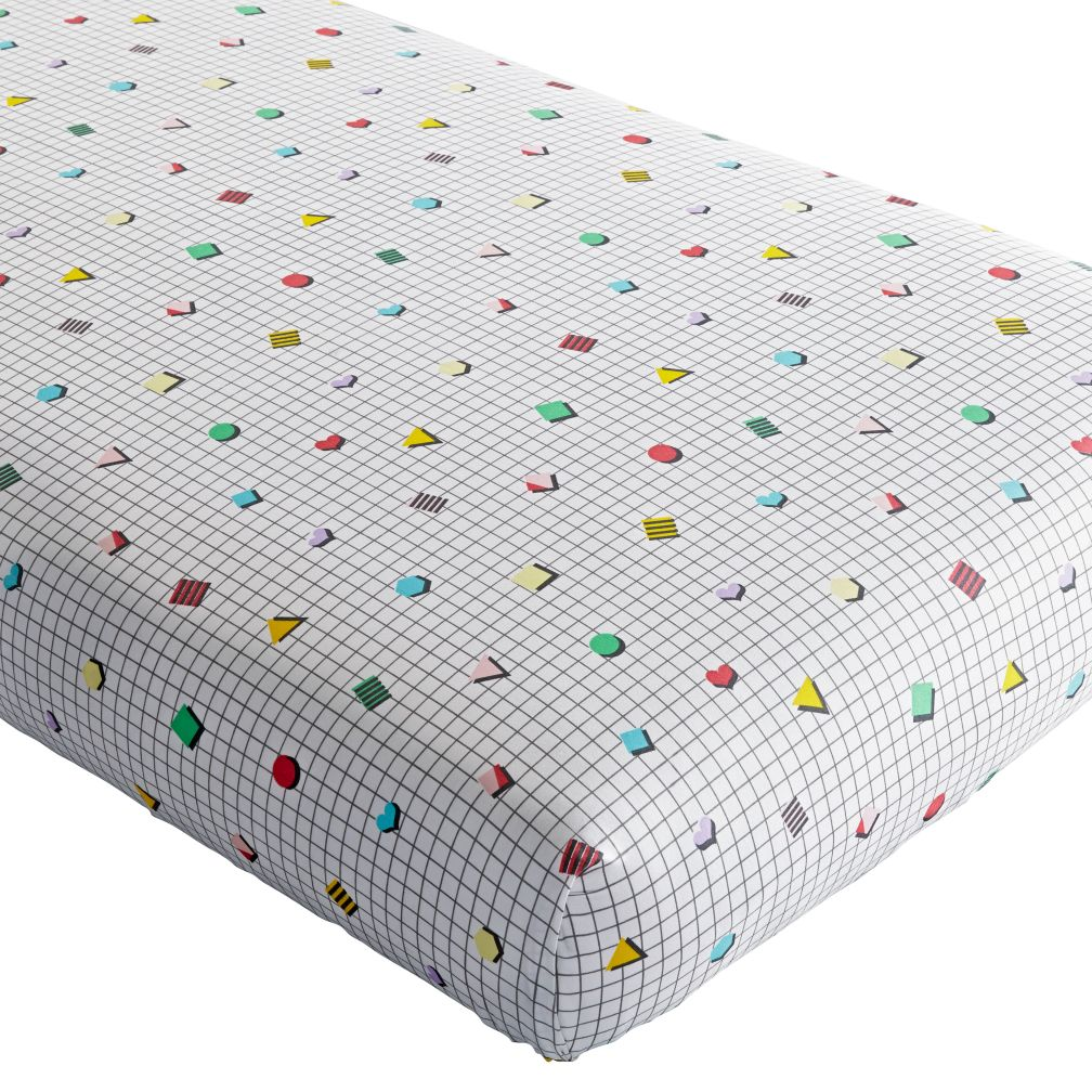 Rainbow Charm Crib Fitted Sheet