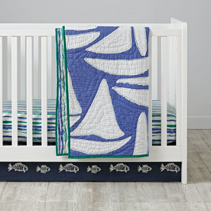 Regatta Sailboat Crib Bedding - Regatta Baby Quilt