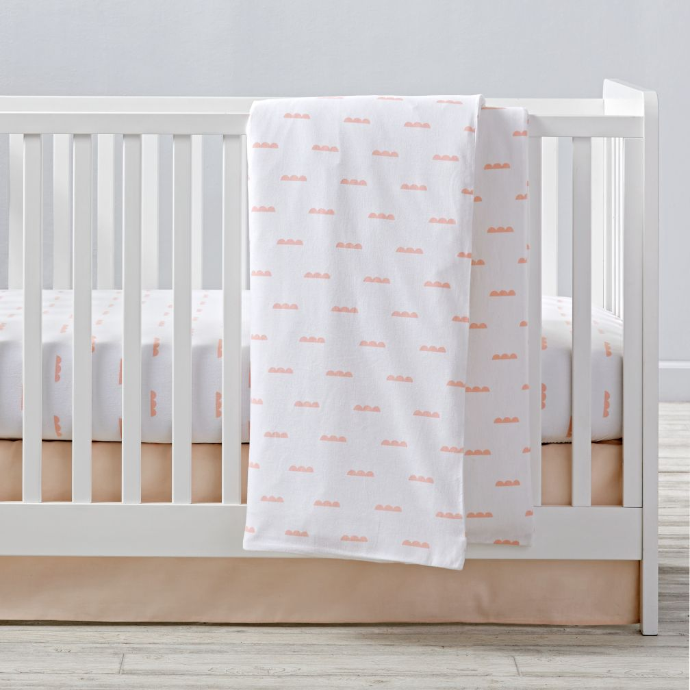 Rosy Cloud Flannel Crib Bedding and Duvet Cover