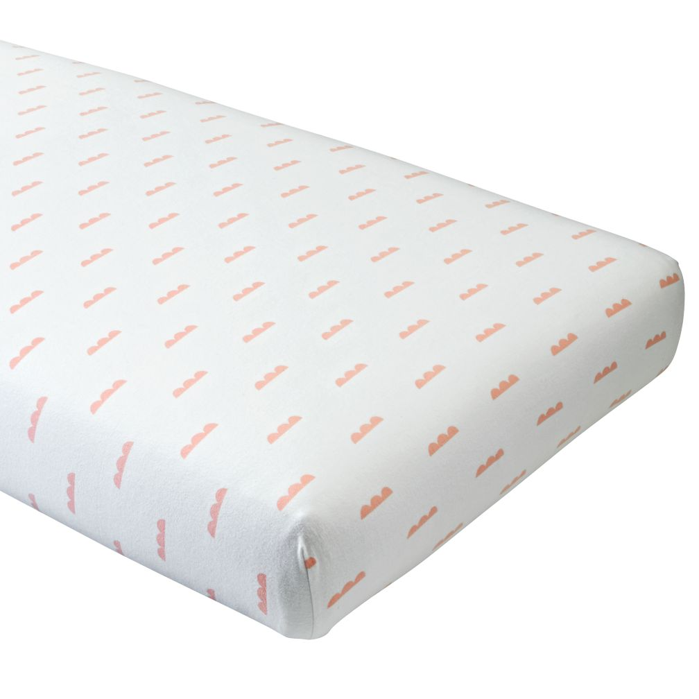 Rosy Cloud Crib Fitted Sheet