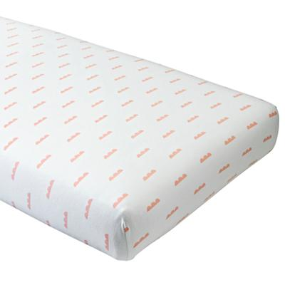 Rosy Cloud Flannel Crib Fitted Sheet