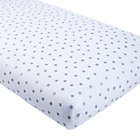 Organic Silver Dot Crib Fitted Sheet