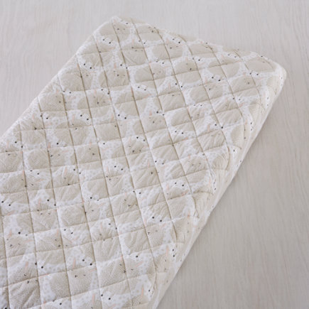 Sheepish: Sheep Changing Pad Cover - White Sheep Changing Pad Cover