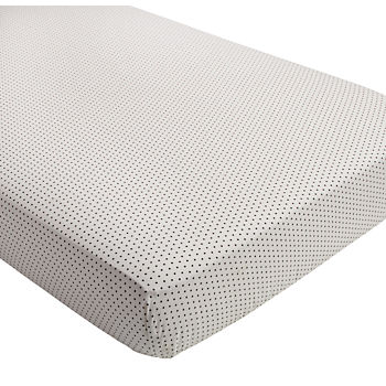 Mini Organic Crib Fitted Sheet (Swiss Dot)