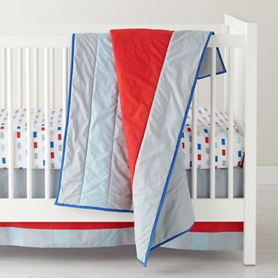 Solid Stripes Crib Skirt