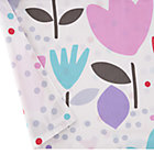 Reversible Multi Tulip & Dot Crib Skirt