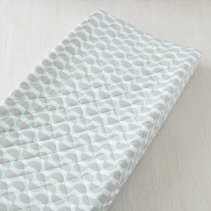 Forest Themed Changing Pad Cover (Blue) - Blue Nested Acorn Changing Pad Cover