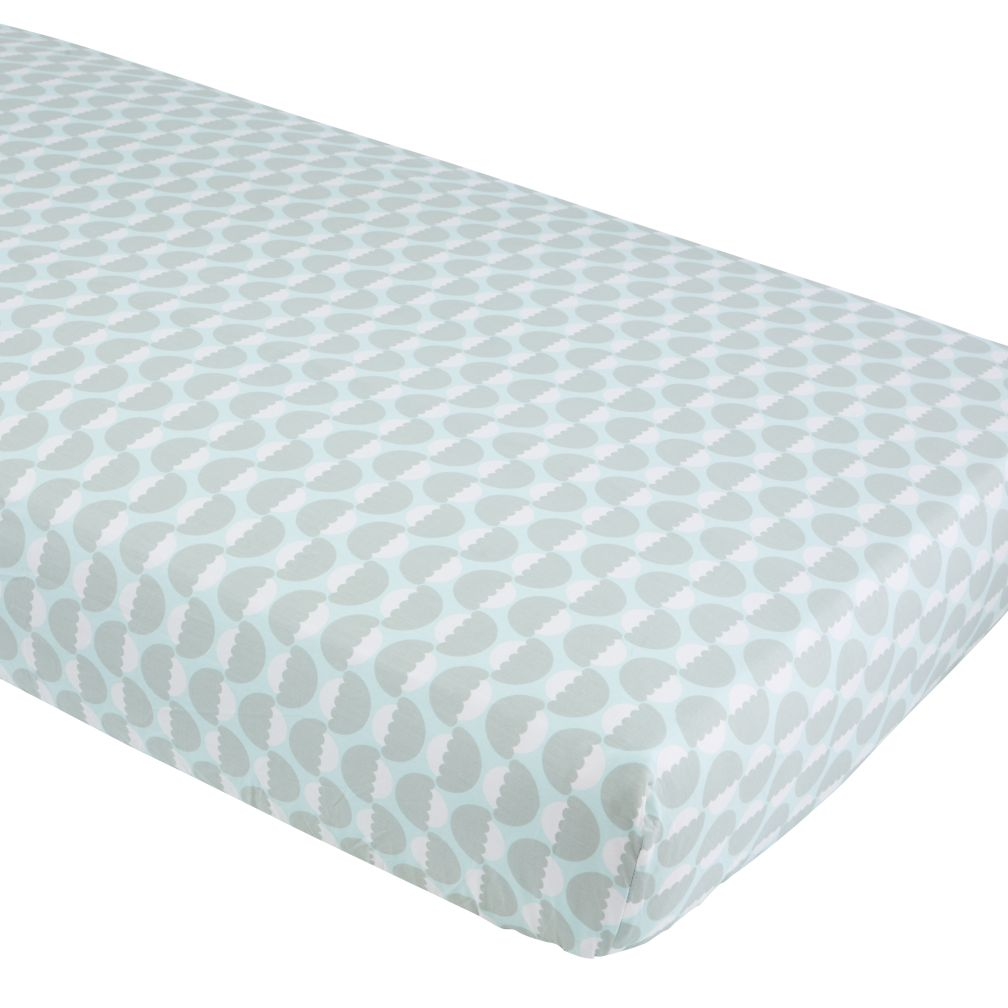 Well Nested Crib Fitted Sheet (Blue Acorn)