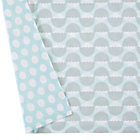 Blue/White Nested Organic Crib Skirt