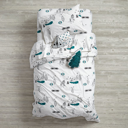 Campground Kids Duvet Cover - Twin Campground Duvet Cover