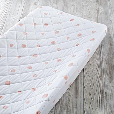 Washed Dot Organic Changing Pad Cover