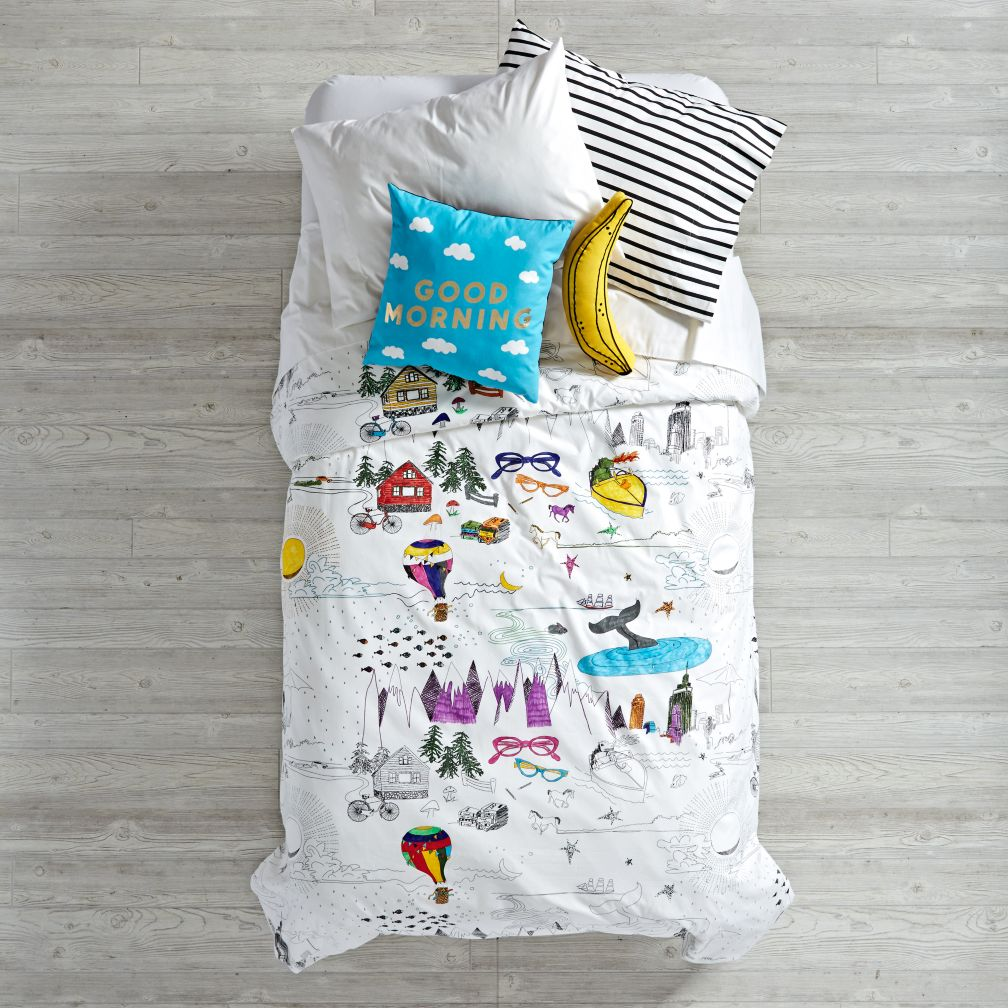 - Twin Coloring Book Duvet Cover