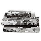 Twin Comic Book Sheet SetIncludes fitted sheet, flat sheet and one pillowcase