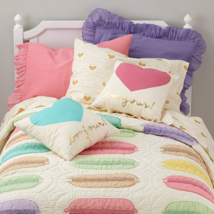 Confectionary Standard Pillow Sham (Pink) - Pink Confectionary Standard Sham