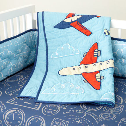Crib bedding kids room decor - Airplane baby bedding sets ...