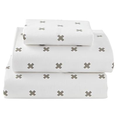 Twin Crisscross Flannel Sheet Set