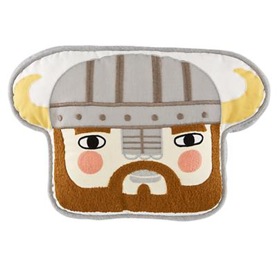 Viking Head Throw Pillow