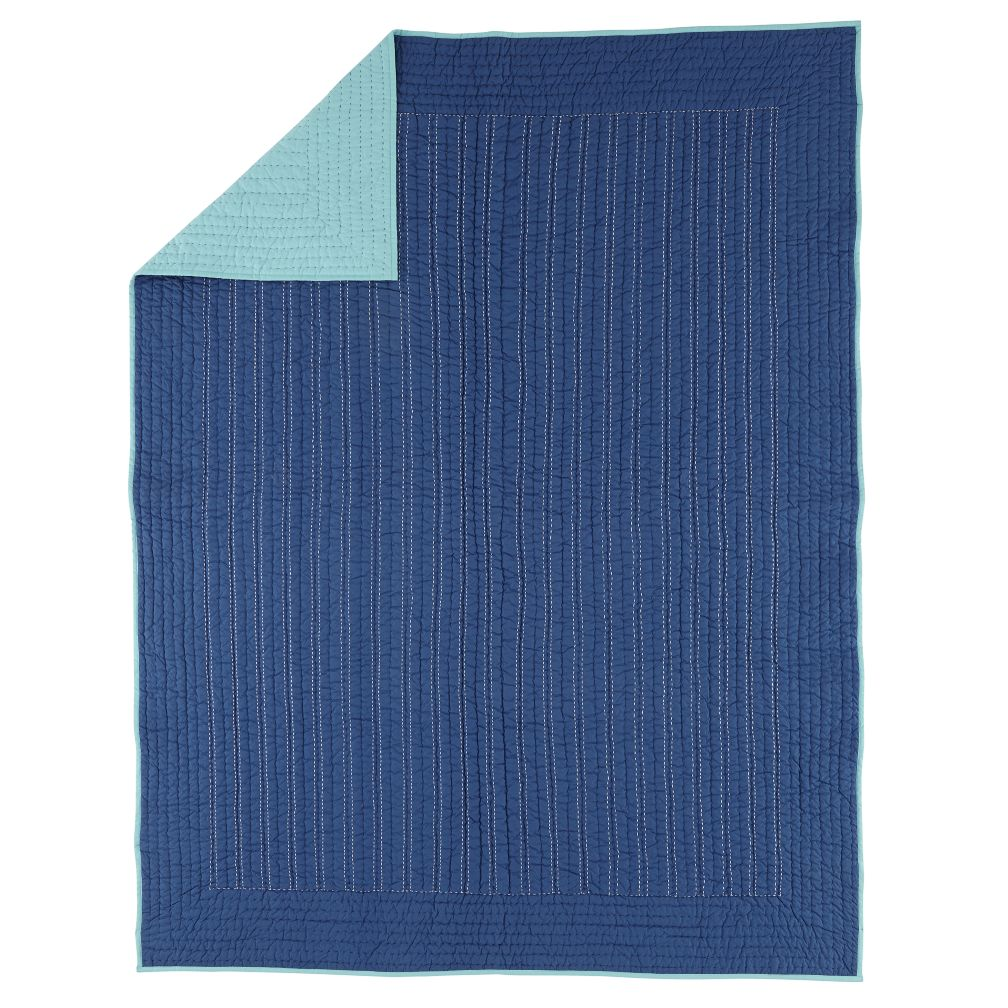 Twin Deep Blue Quilt
