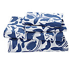 Queen Deep Blue Sheet SetIncludes fitted sheet, flat sheet and two pillowcases