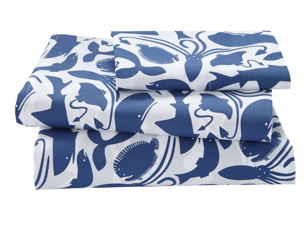 Twin Deep Blue Sheet Set