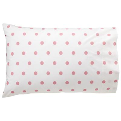 Pink Polka Dot Pillowcase