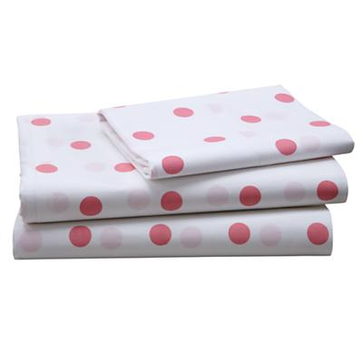 Pink Polka Dot Sheet Set (Twin)