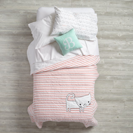 Early Edition Kids Quilt (Cat) - Twin Cat Early Edition Quilt