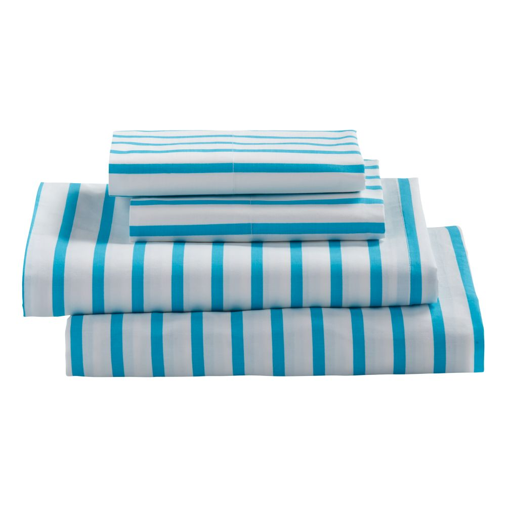 Early Edition Sheet Set (Blue Stripe)
