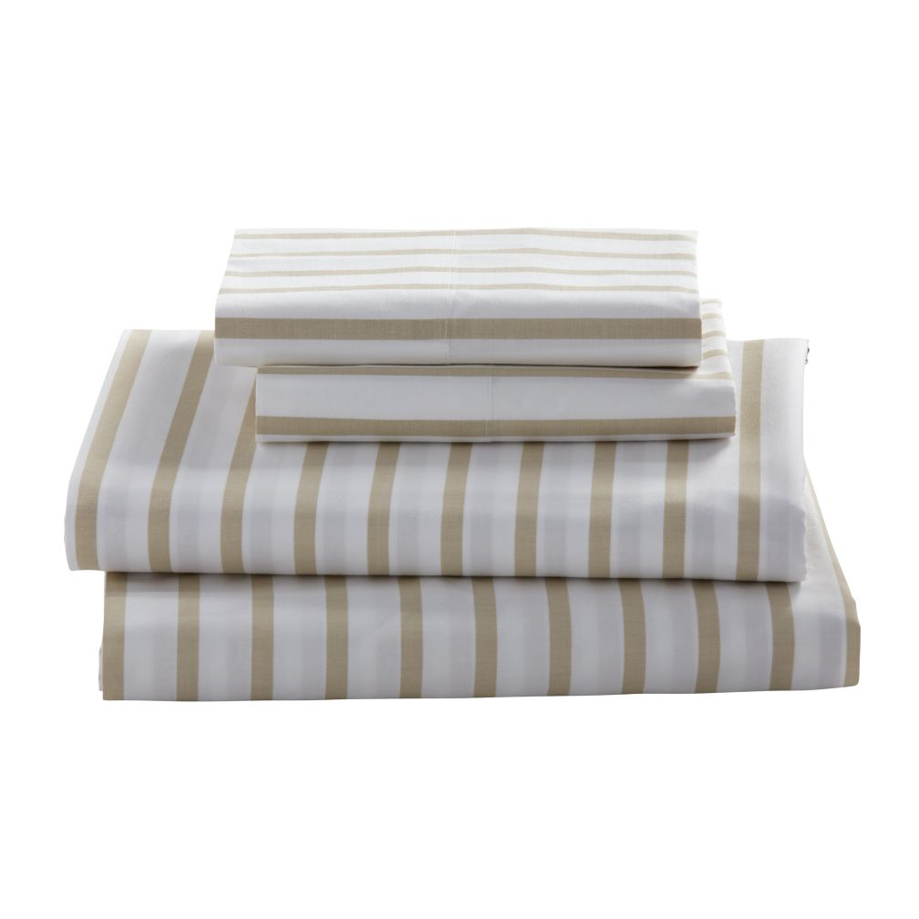 Early Edition Sheet Set (Khaki Stripe)