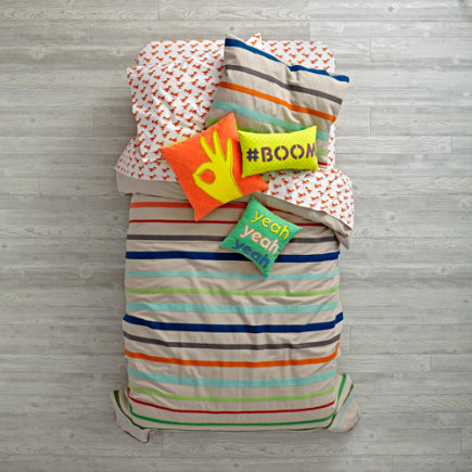 Twin Essential Stripe Duvet Cover