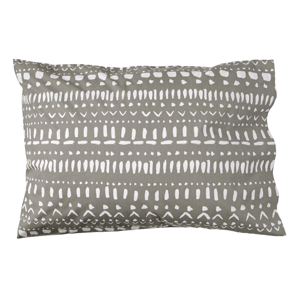 Organic Tribal Excursion Grey Pillowcase