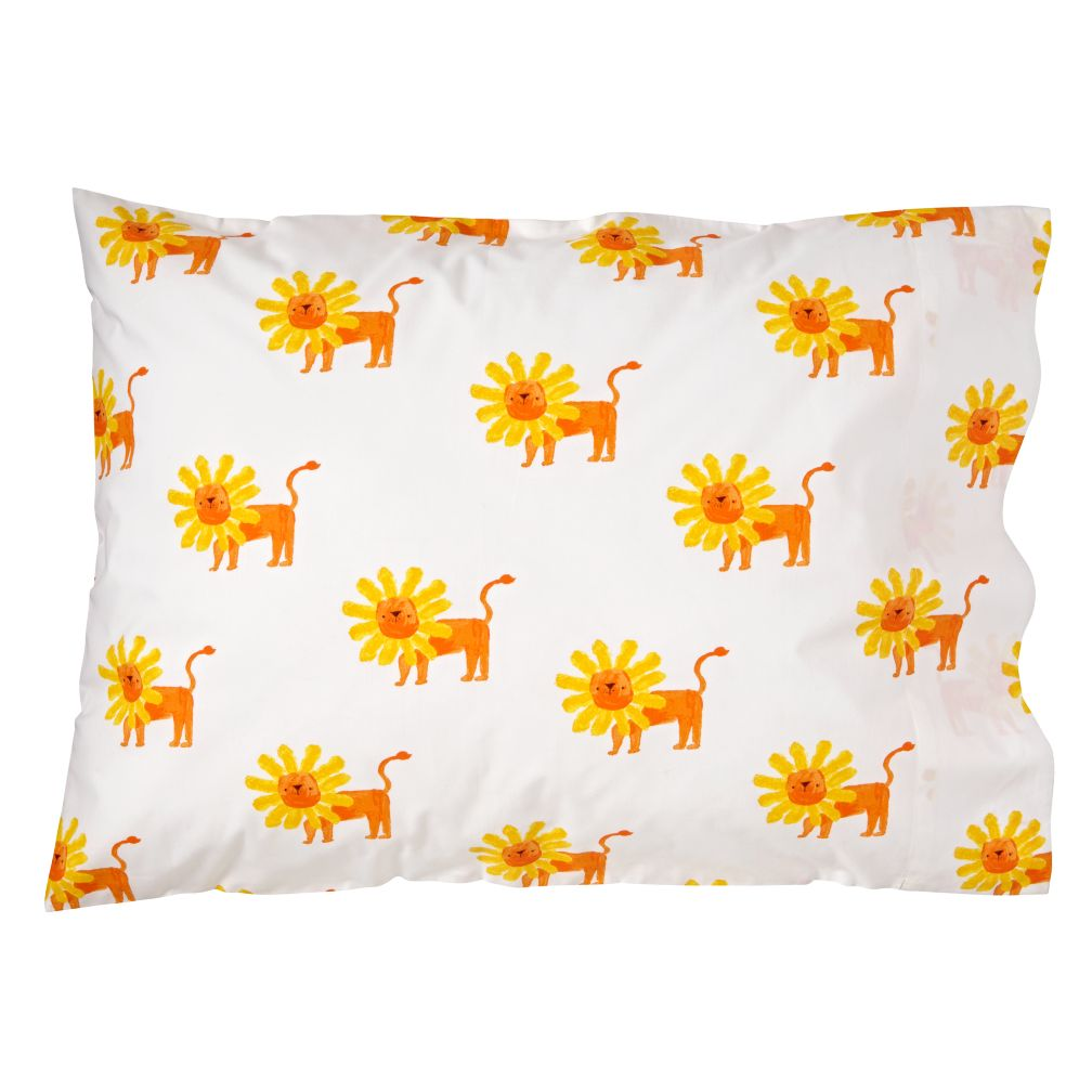 Wild Excursion Lion Pillowcase