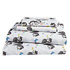 Full Shy Little Kitten White Sheet SetIncludes fitted sheet, flat sheet and two pillowcases