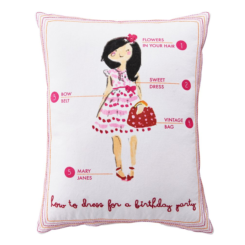 Fashionista Throw Pillow (Birthday)