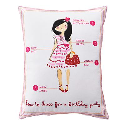 Fashionista Pillow (Birthday Party)