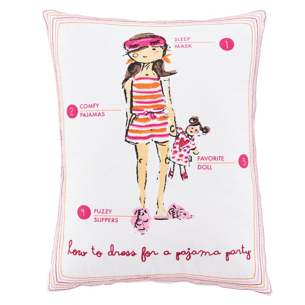 Fashionista Throw Pillow (Sleepover)